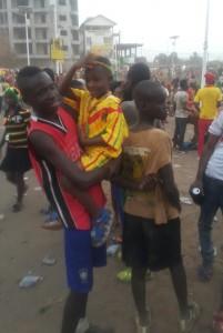 Supporteurs du Syli en liesse dans les rues de Conakry