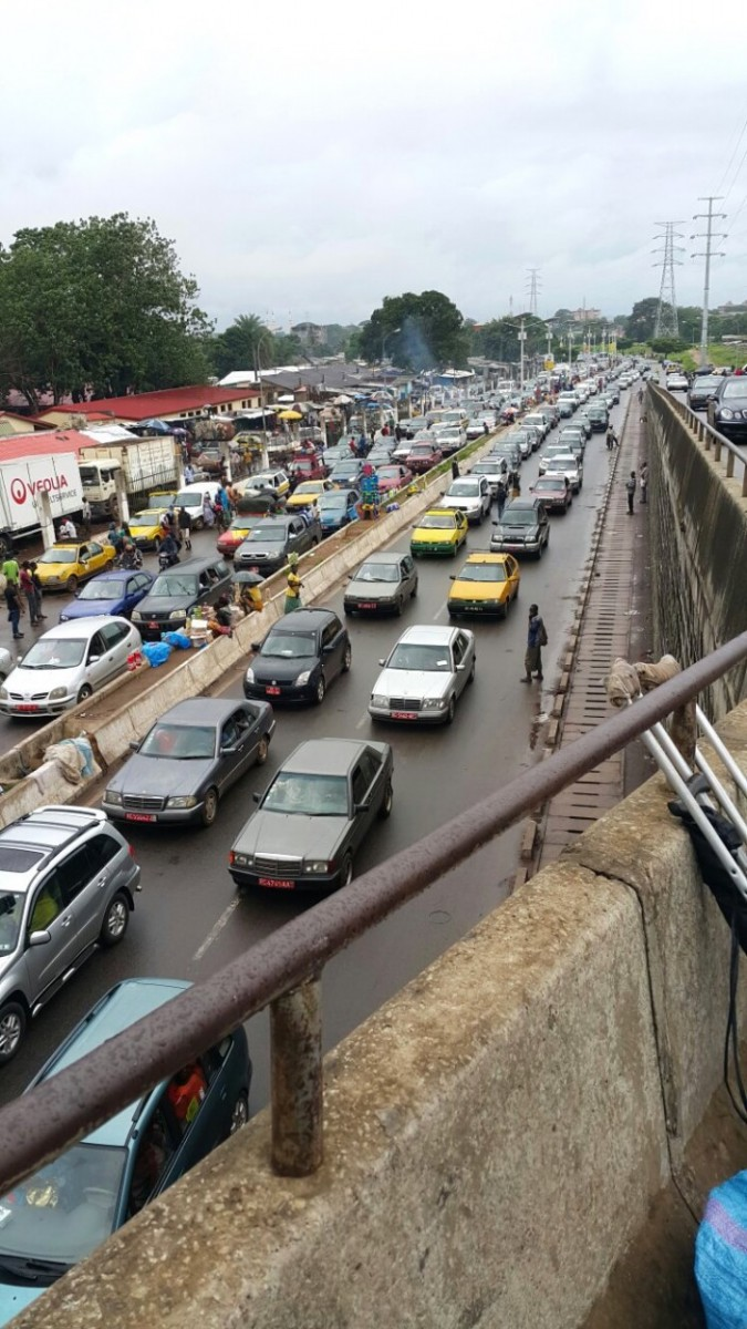 Embouteillage à Conakry à l'approche de la coupure du jeûne du ramadan